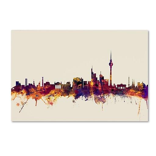 "Trademark Fine Art ''Berlin Germany Skyline'' by Michael Tompsett 30"" x 47"" Canvas Art (MT0814-C3047GG)"