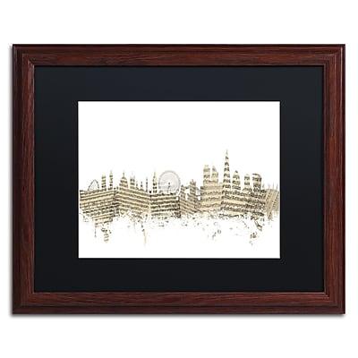 Trademark Fine Art ''London Skyline Sheet Music'' by Michael Tompsett 16