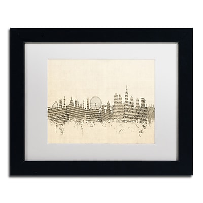 Trademark Fine Art ''London Skyline Sheet Music'' by Michael Tompsett 11