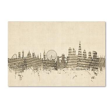 Trademark Fine Art ''London England Skyline Sheet Music'' by Michael Tompsett 16