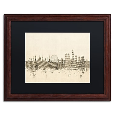 Trademark Fine Art ''London Skyline Sheet Music'' by Michael Tompsett 16