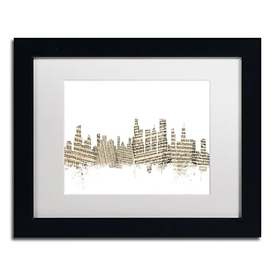 Trademark Fine Art ''Chicago Skyline Sheet Music'' by Michael Tompsett 11
