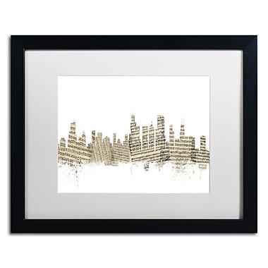 Trademark Fine Art ''Chicago Skyline Sheet Music'' by Michael Tompsett 16