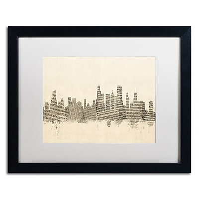 Trademark Fine Art ''Chicago Skyline Sheet Music'' by Michael Tompsett 16
