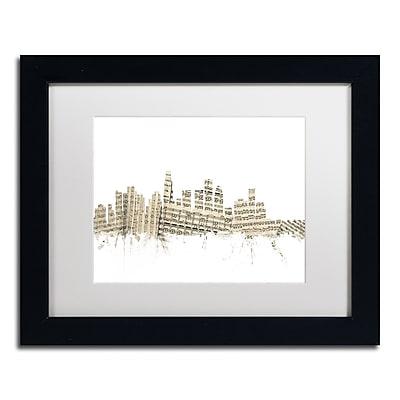 Trademark Fine Art ''Los Angeles Skyline Sheet Music'' by Michael Tompsett 11
