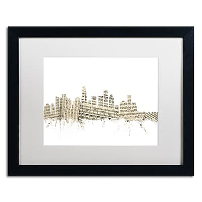 Trademark Fine Art ''Los Angeles Skyline Sheet Music'' by Michael Tompsett 16