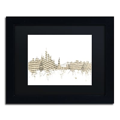 Trademark Fine Art ''New York Skyline Sheet Music'' by Michael Tompsett 11