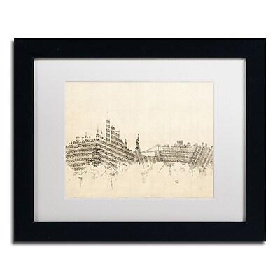 Trademark Fine Art ''New York Skyline Sheet Music II'' by Michael Tompsett 11