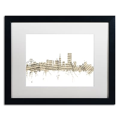 Trademark Fine Art ''San Francisco Skyline Sheet Music'' by Michael Tompsett 16