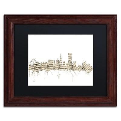 Trademark Fine Art ''San Francisco Skyline Sheet Music'' by Michael Tompsett 11