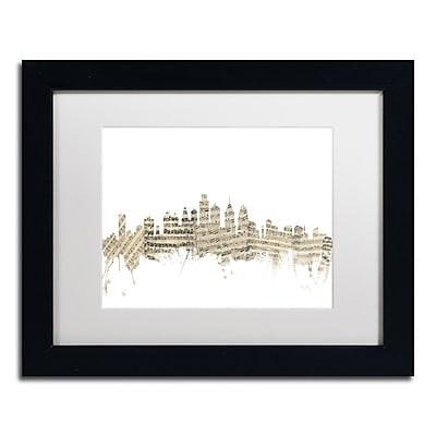 Trademark Fine Art ''Philadelphia Skyline Sheet Music'' by Michael Tompsett 11