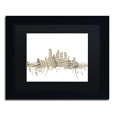 Trademark Fine Art ''Pittsburgh Skyline Sheet Music'' by Michael Tompsett 11