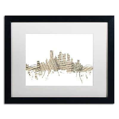 Trademark Fine Art ''Pittsburgh Skyline Sheet Music'' by Michael Tompsett 16