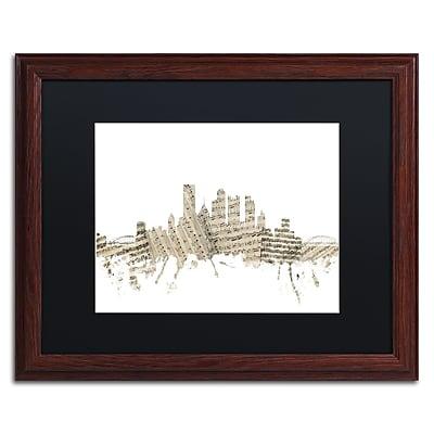 Trademark Fine Art ''Pittsburgh Skyline Sheet Music'' by Michael Tompsett 16