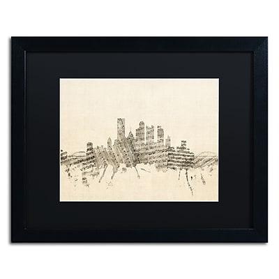 Trademark Fine Art ''Pittsburgh Skyline Sheet Music II'' by Michael Tompsett 16
