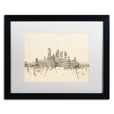 Trademark Fine Art ''Pittsburgh Skyline Sheet Music II'' by Michael Tompsett 16