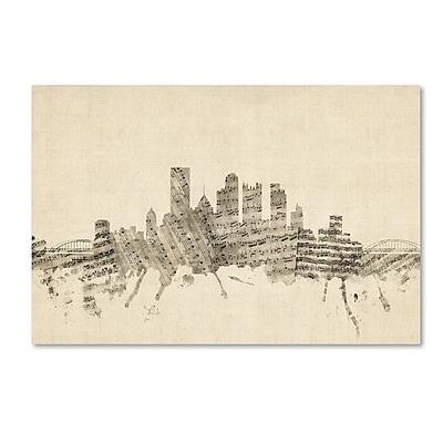 Trademark Fine Art ''Pittsburgh Skyline Sheet Music'' by Michael Tompsett 12