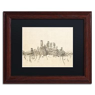 Trademark Fine Art ''Pittsburgh Skyline Sheet Music II'' by Michael Tompsett 11