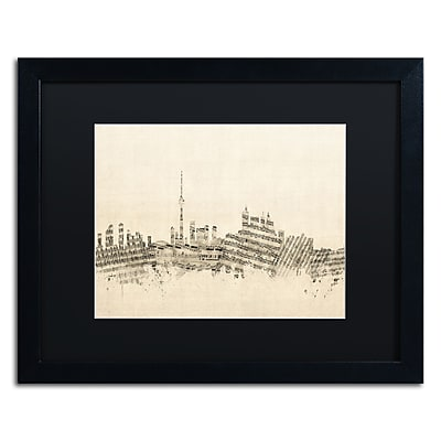 Trademark Fine Art ''Toronto Skyline Sheet Music'' by Michael Tompsett 16