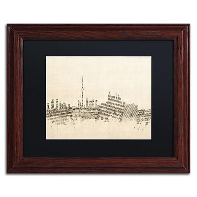 Trademark Fine Art ''Toronto Skyline Sheet Music'' by Michael Tompsett 11