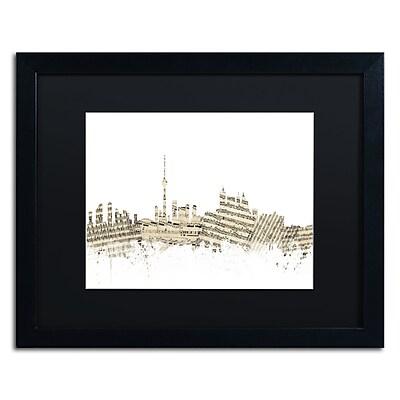 Trademark Fine Art ''Toronto Skyline Sheet Music'' by Michael Tompsett 16
