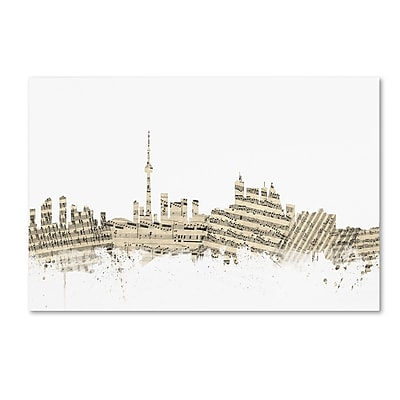 Trademark Fine Art ''Toronto Canada Skyline Sheet Music'' by Michael Tompsett 16