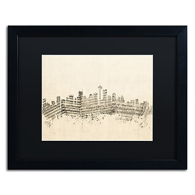 Trademark Fine Art ''Seattle Skyline Sheet Music'' by Michael Tompsett 16