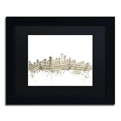 Trademark Fine Art ''Seattle Washington Skyline Sheet Music'' by Michael Tompsett 11