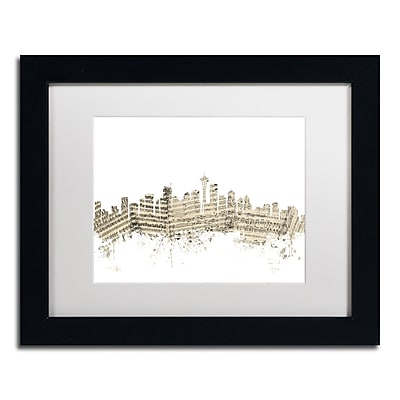 Trademark Fine Art ''Seattle Skyline Sheet Music'' by Michael Tompsett 11