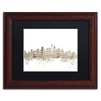 Trademark Fine Art ''Seattle Skyline Sheet Music'' by Michael Tompsett 11