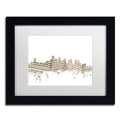Trademark Fine Art ''Boston Skyline Sheet Music'' by Michael Tompsett 11