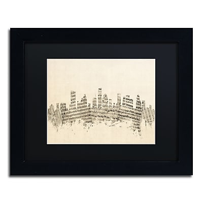 Trademark Fine Art ''Houston Texas Skyline Sheet Music'' by Michael Tompsett 11