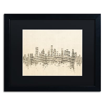 Trademark Fine Art ''Houston Texas Skyline Sheet Music'' by Michael Tompsett 16