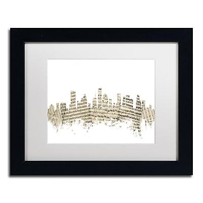 Trademark Fine Art ''Houston Skyline Sheet Music II'' by Michael Tompsett 11