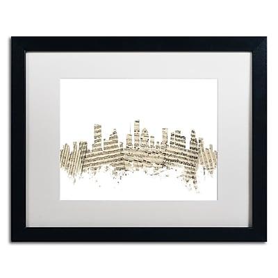 Trademark Fine Art ''Houston Skyline Sheet Music II'' by Michael Tompsett 16