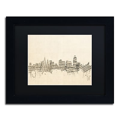 Trademark Fine Art ''Cincinnati Skyline Sheet Music'' by Michael Tompsett 11