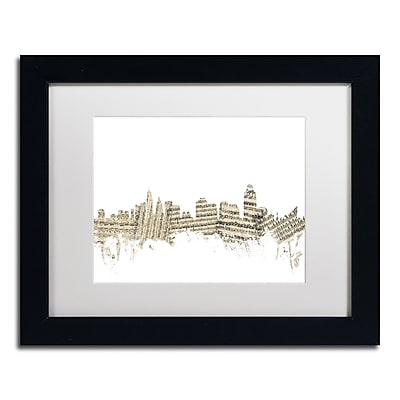 Trademark Fine Art ''Cincinnati Skyline Sheet Music'' by Michael Tompsett 11