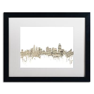 Trademark Fine Art ''Cincinnati Skyline Sheet Music'' by Michael Tompsett 16