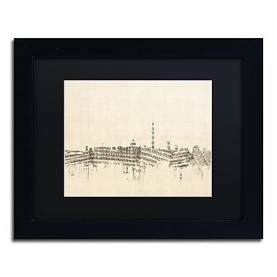Trademark Fine Art ''Washington DC Skyline Sheet Music'' by Michael Tompsett 11