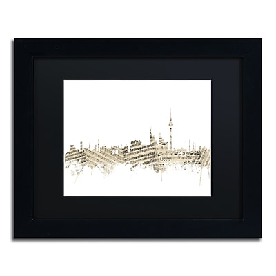 Trademark Fine Art ''Berlin Skyline Sheet Music'' by Michael Tompsett 11