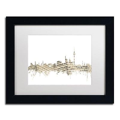 Trademark Fine Art ''Berlin Skyline Sheet Music'' by Michael Tompsett 11