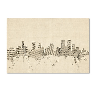 Trademark Fine Art ''Denver Colorado Skyline Sheet Music'' by Michael Tompsett 22