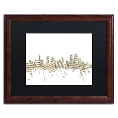 Trademark Fine Art ''Denver Skyline Sheet Music'' by Michael Tompsett 16
