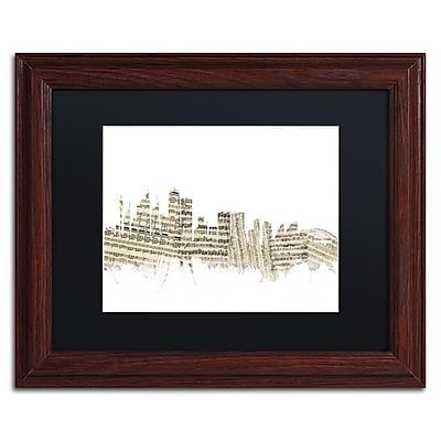Trademark Fine Art ''Sydney Skyline Sheet Music'' by Michael Tompsett 11