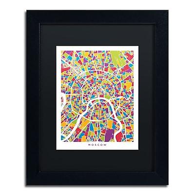 Trademark Fine Art ''Moscow City Street Map II'' by Michael Tompsett 11