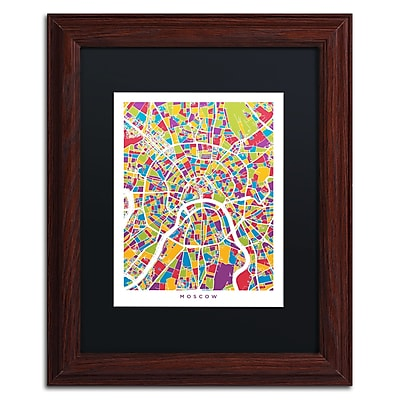 Trademark Fine Art ''Moscow City Street Map II'' by Michael Tompsett 11