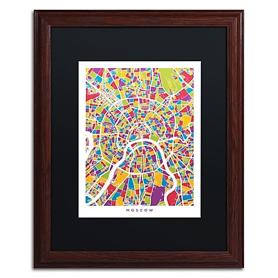 Trademark Fine Art ''Moscow City Street Map II'' by Michael Tompsett 16