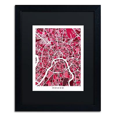 Trademark Fine Art ''Moscow City Street Map IV'' by Michael Tompsett 16
