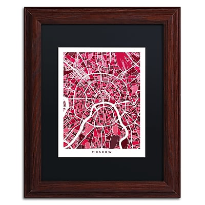 Trademark Fine Art ''Moscow City Street Map IV'' by Michael Tompsett 11