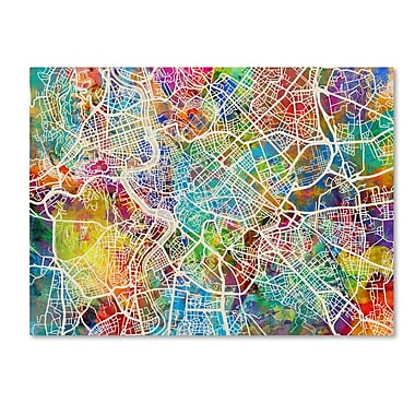 Trademark Fine Art ''Rome Italy Street Map'' by Michael Tompsett 18